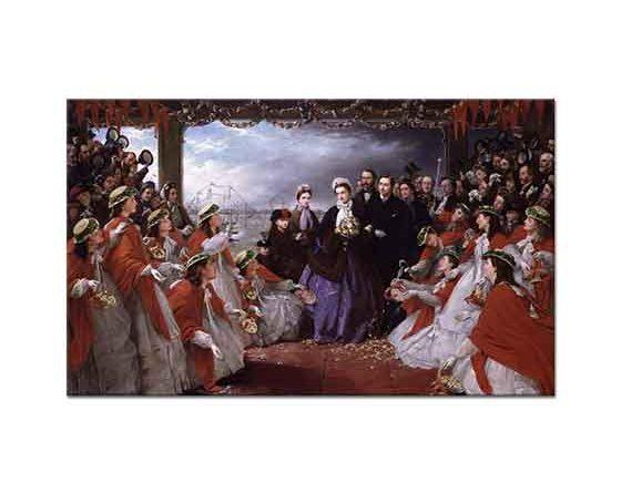 Henry Nelson O'Neil Prenses Alexandra'nın Karşılanışı