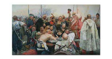 Ilya Efimovich Repin Sappor Kazakları Anlaşma İmzalarken