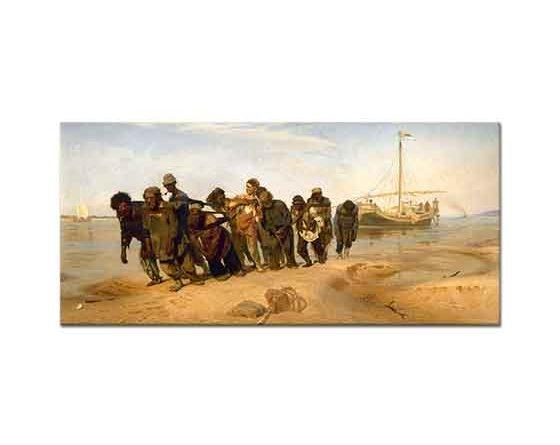 Ilya Efimovich Repin Volga Kıyısında Taşıyıcılar