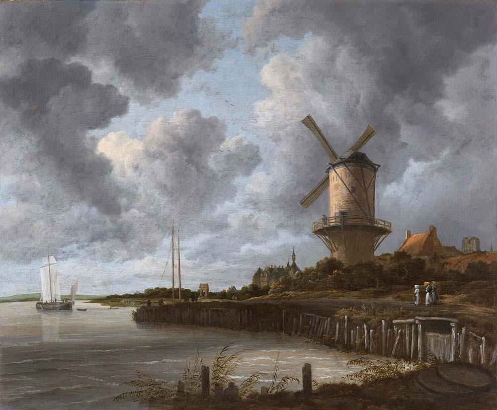 Jacob van Ruisdael Değirmen Manzarası