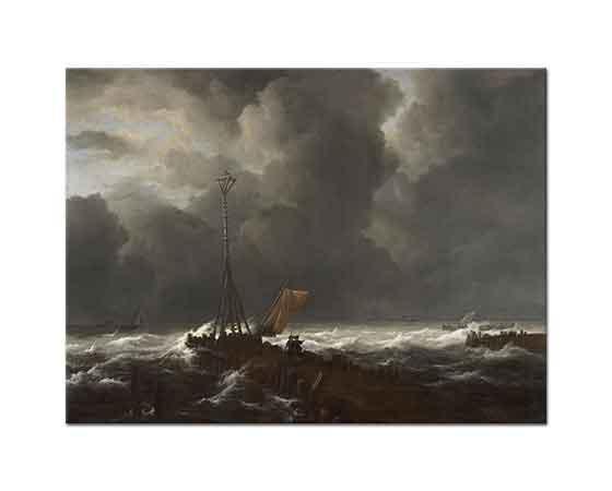 Jacob van Ruisdael Fırtınada iskeledekiler