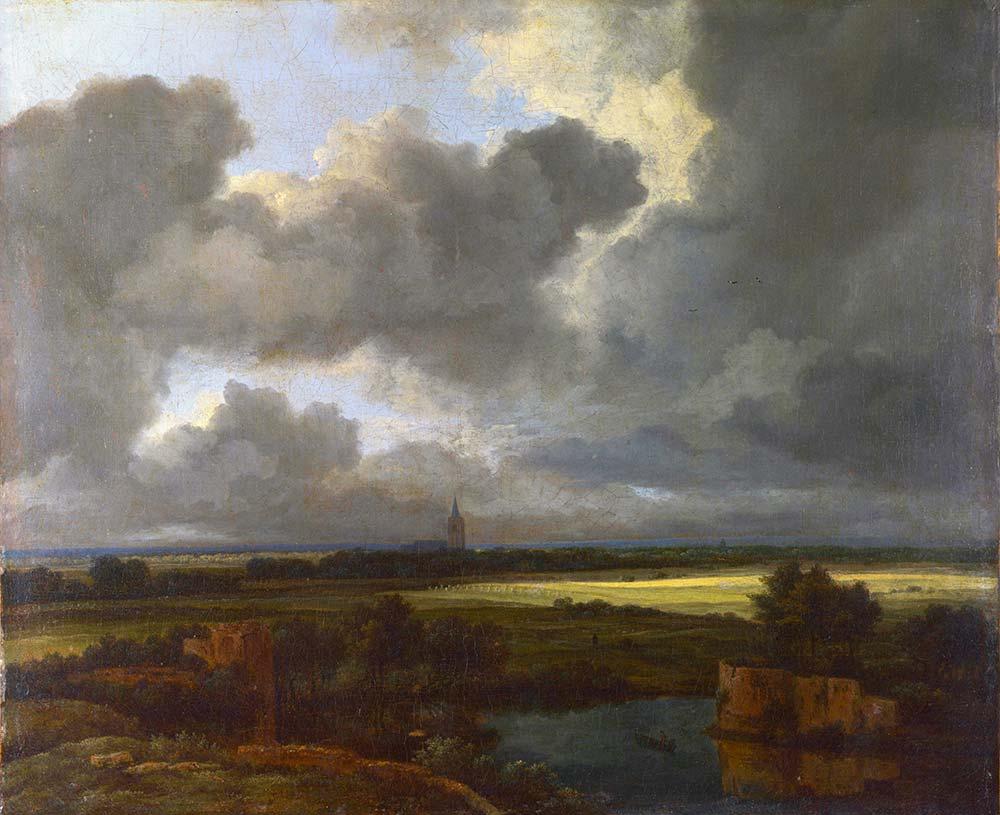 Jacob van Ruisdael Göl Kenarından Manzara