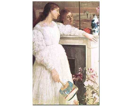 James Abbott McNeill Whistler Beyazlar içinde Kadın