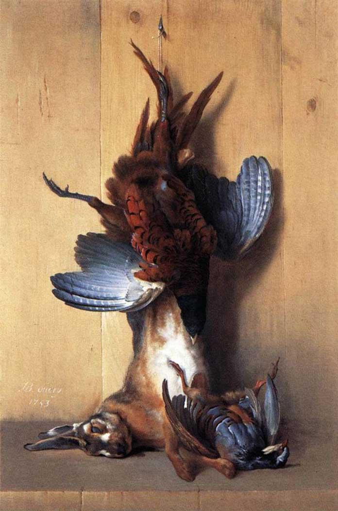 Jean Baptiste Oudry Sülünlü Natürmort