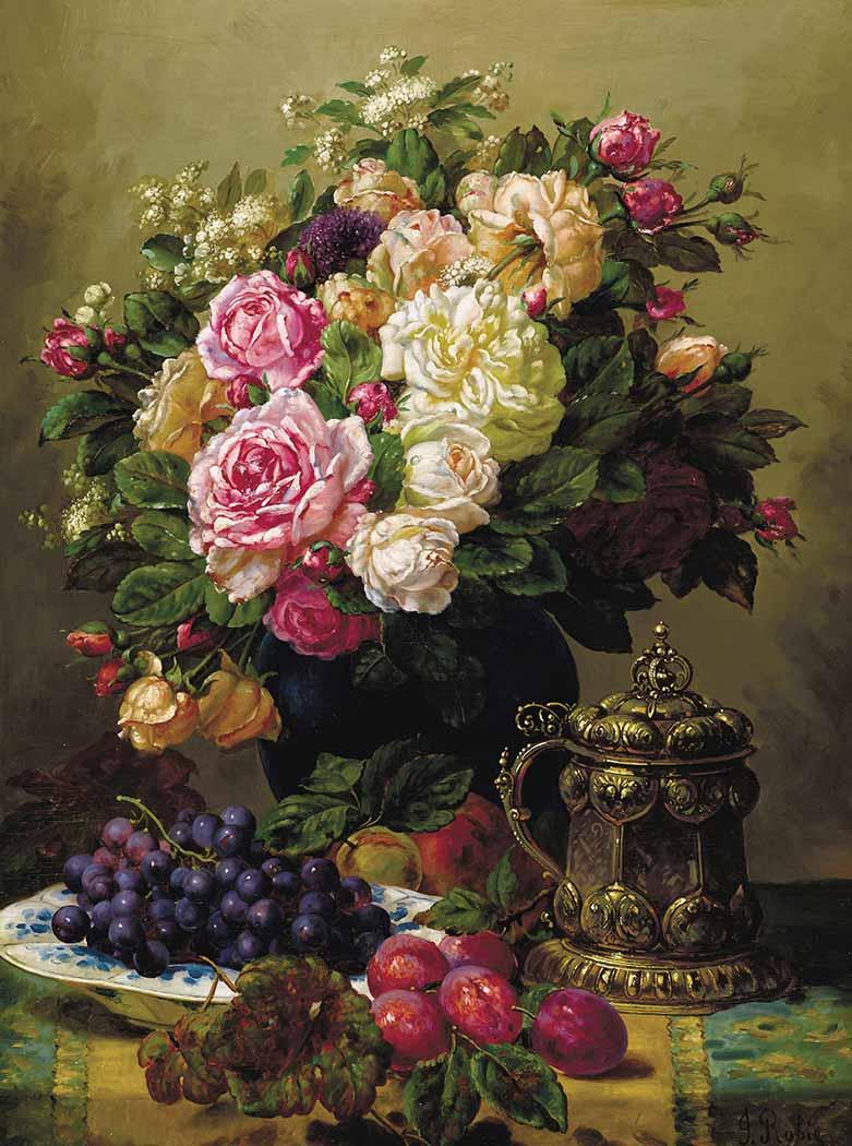 Jean Baptiste Robie Vazoda Çiçekler