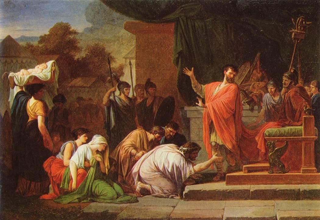 Jean François Pierre Peyron Kral Perseus Aemilius Paulus'un Huzurunda