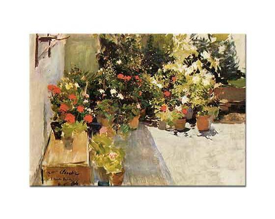 Joaquin Sorolla Saksıda Çiçekler