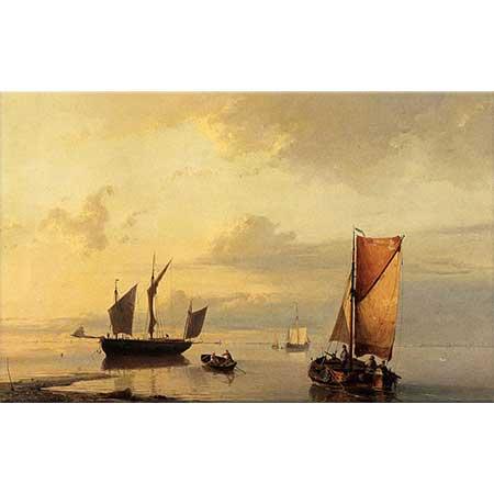 Johannes Hermanus Barend Koekkoek Durgun Denizde Yolculuk