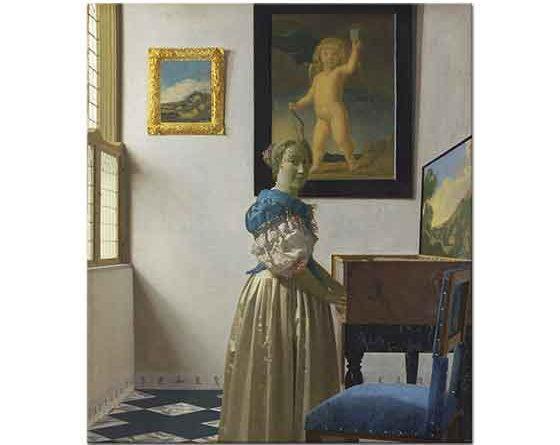 Johannes Vermeer Ayakta Kadın Portresi