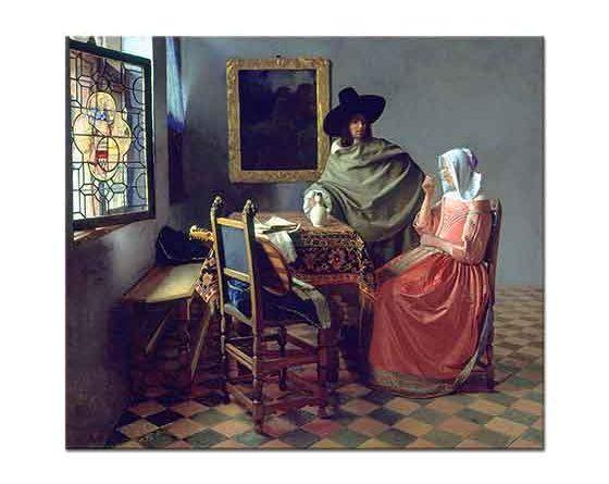Johannes Vermeer içki içen Kadın ve Centilmen