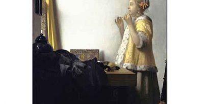 Johannes Vermeer inci Gerdanlığı ile Kadın