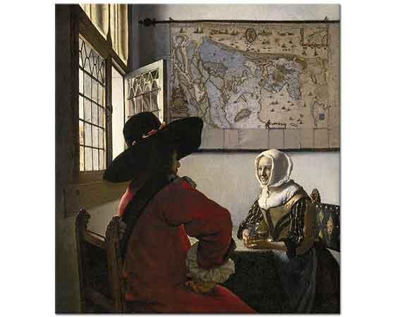 Johannes Vermeer Masa Başında Sohbet