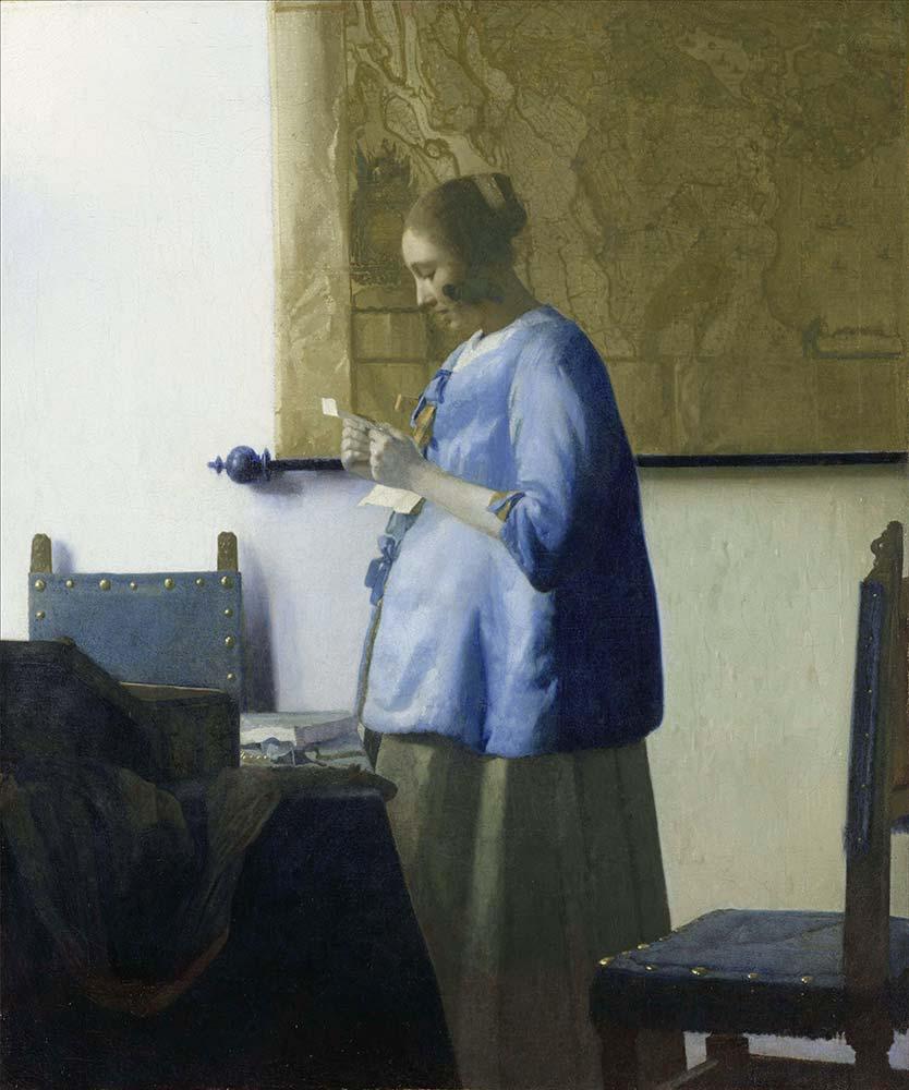 Johannes Vermeer Mektubunu Okuyan Kız