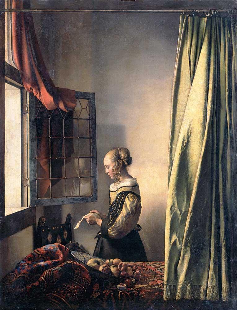 Johannes Vermeer Mektup Okuyan Kız