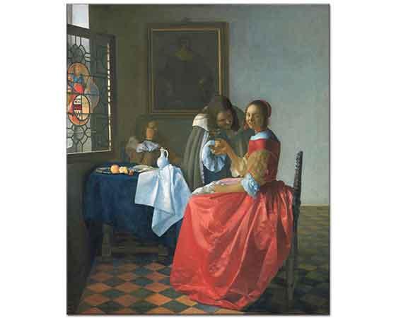 Johannes Vermeer Şarap Bardaklı Kız