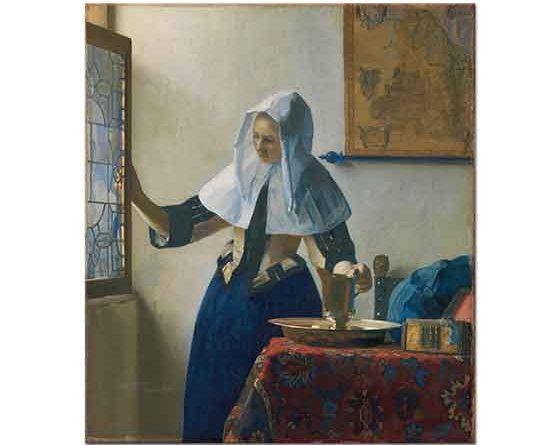 Johannes Vermeer Su Kabı ile Genç Kadın