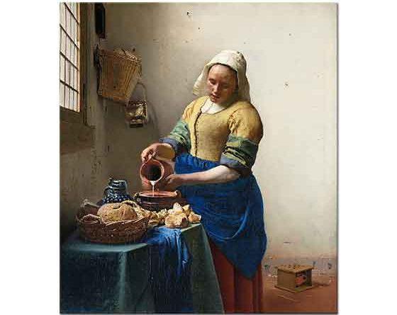 Johannes Vermeer Süt Koyan Hizmetçi