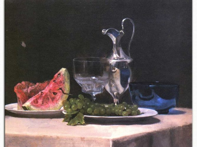 John Lafarge Meyveli Natürmort Etüdü