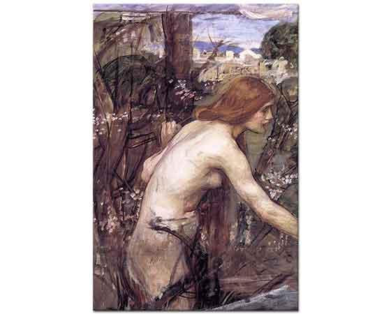John William Waterhouse Çiçek Toplayan Kadın