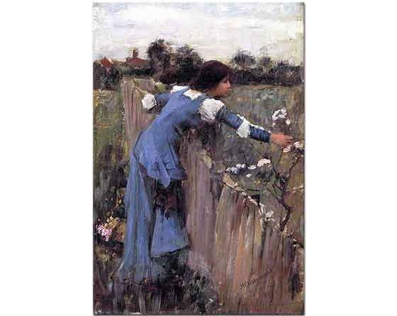 John William Waterhouse Çiçek Toplayan Kız