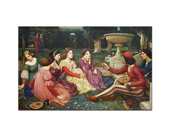 John William Waterhouse Decameron'dan Bir Hikaye