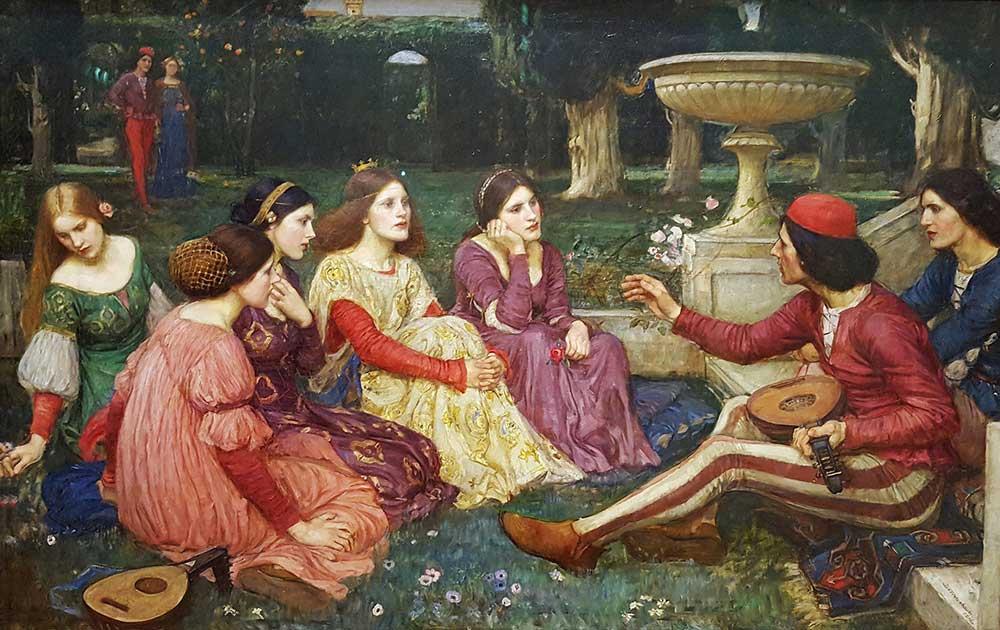 John William Waterhouse Decameron'dan Bir Hikaye