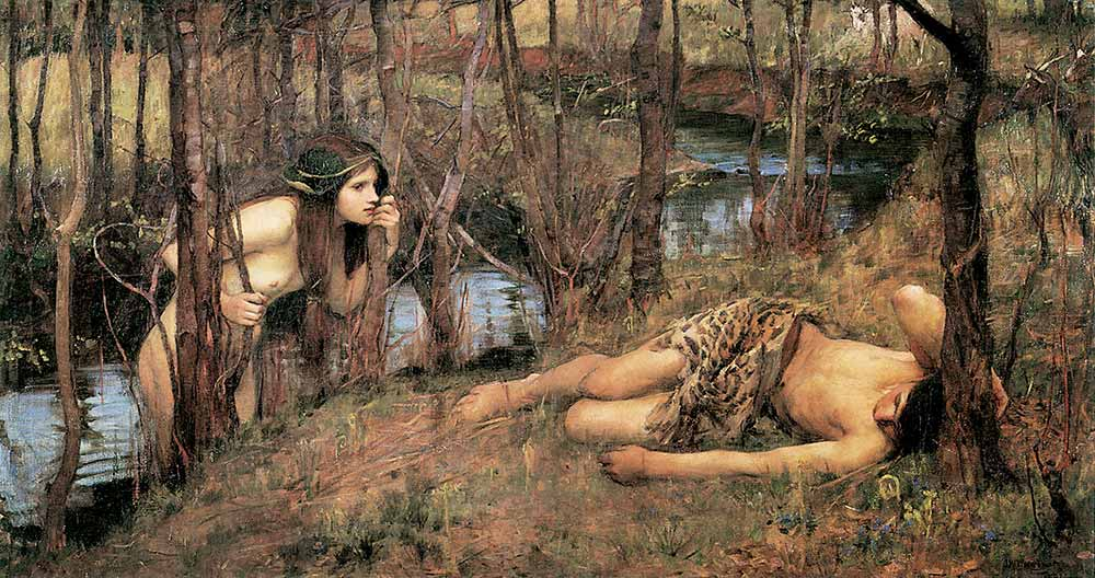 John William Waterhouse Dere Kenarında Su Perisi