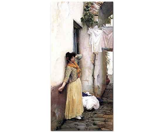 John William Waterhouse Dinlenen Kadın