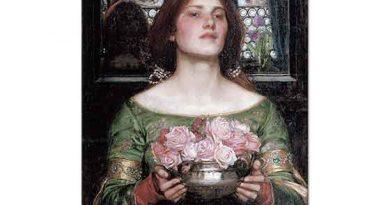 John William Waterhouse Gül Goncaları Tutan Kadın