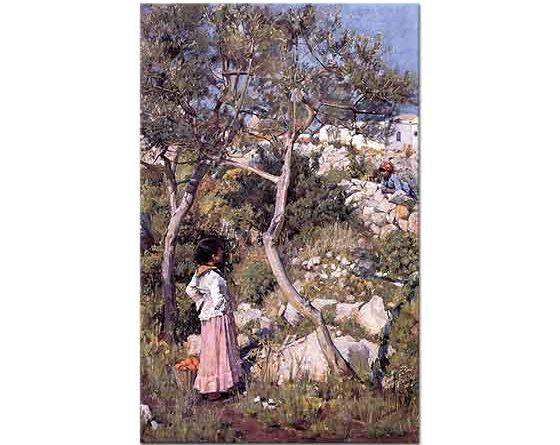 John William Waterhouse Köyde iki Italyan Küçük Kız