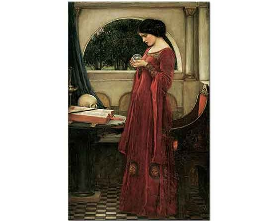 John William Waterhouse Kristal Küre