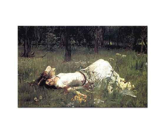 John William Waterhouse Ophelia Yatarken