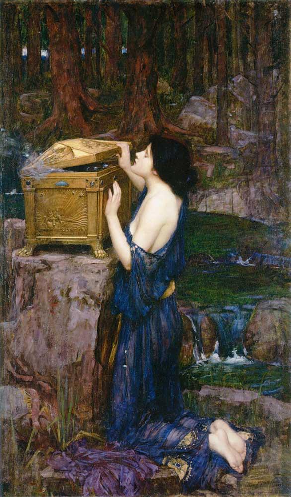 John William Waterhouse Pandora
