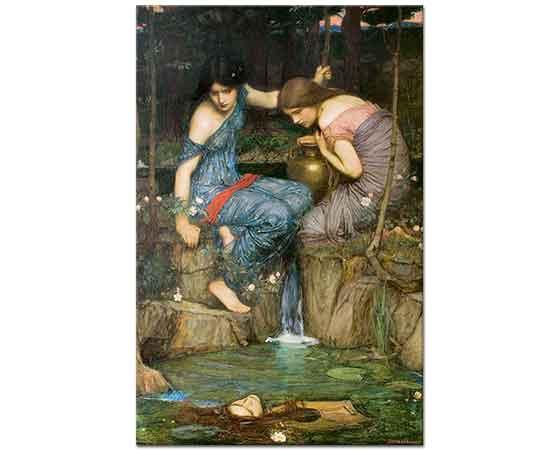 John William Waterhouse Su Perilerinin Orpheus'un Başını Bulmaları