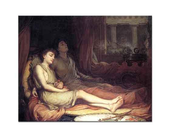 John William Waterhouse Uyuyan ve Ölen Kardeşi