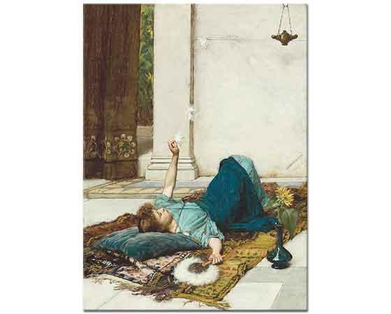 John William Waterhouse Uzanıp Dinlenirken