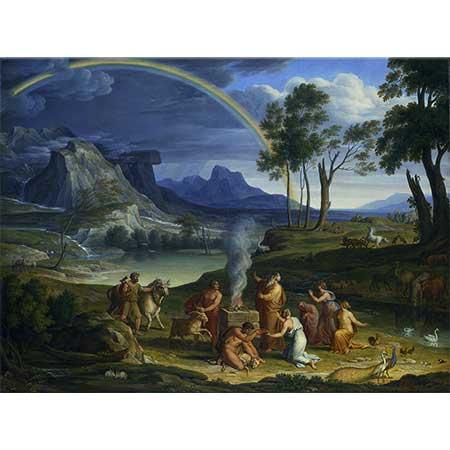 Joseph Anton Koch Nuh Tufanı Haber Verirken