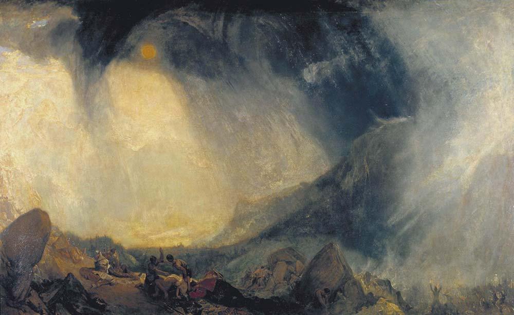 Joseph Mallord William Turner Anibal ve Ordusu Alpleri Geçerken