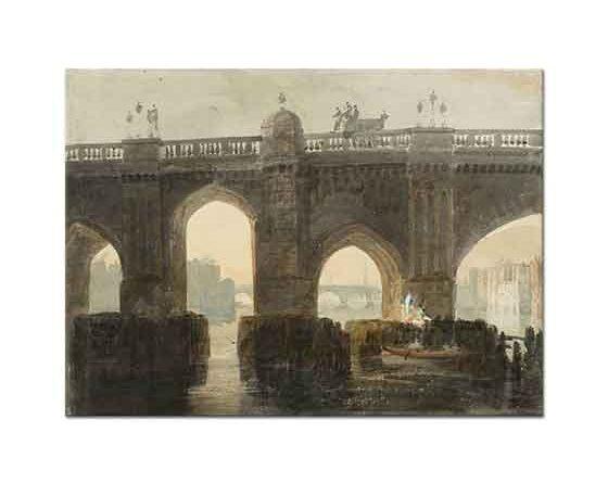 Joseph Mallord William Turner Eski Londra Köprüsü