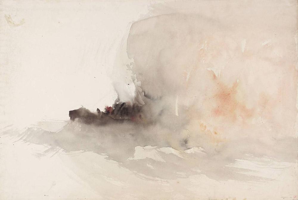 Joseph Mallord William Turner Etüd Yanan Gemi