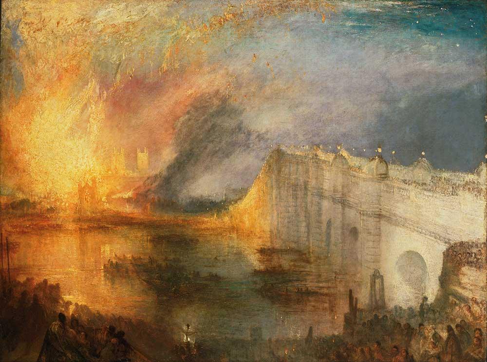 Joseph Mallord William Turner Lordların Evlerinin Yanışı