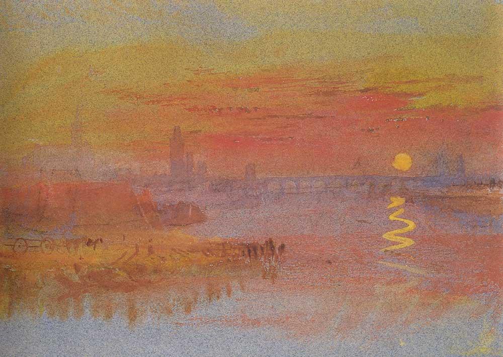 Joseph Mallord William Turner Nehir Kıyısında Günbatımı