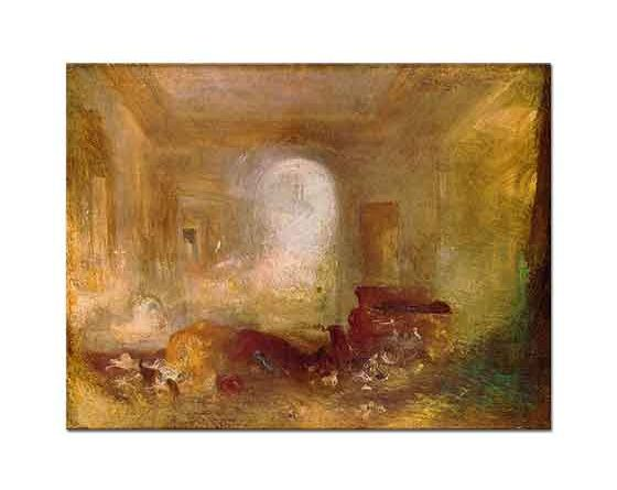 Joseph Mallord William Turner Petworth'ta iç Mekan
