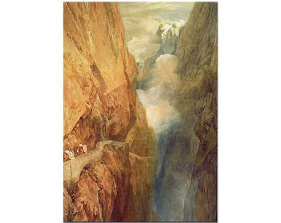 Joseph Mallord William Turner St Gothard Geçidi