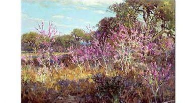 Julien Onderdonk Çiçekler Arasında Ağaç San Antonio