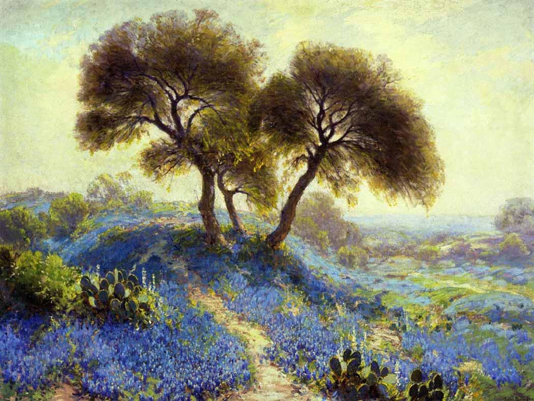 Julien Onderdonk İlkbahar Sabahında Mavi Boneler