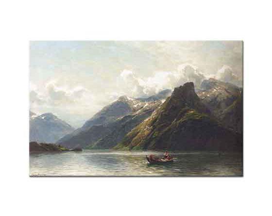 Karl August Oesterley Norveç Fiyordunda Balıkçılık