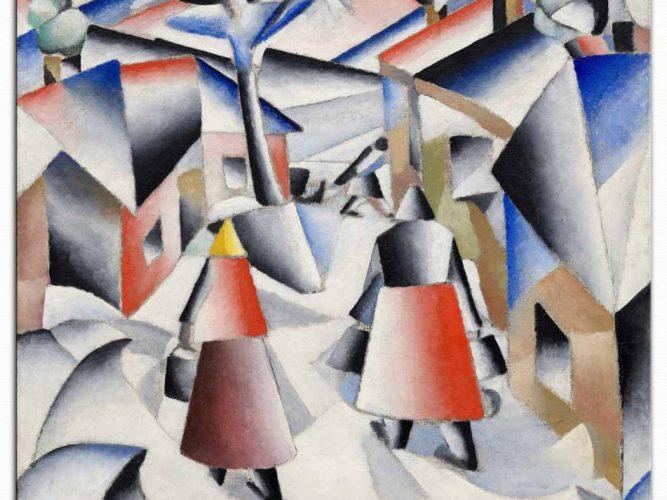 Kazimir Malevich Kar Sonrası Sabah
