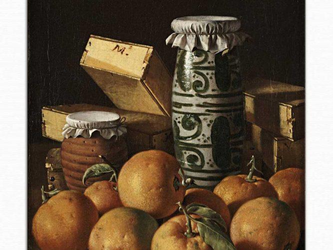Luis Melendez Portakallı Natürmort