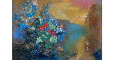 Odilon Redon Çiçekler arasında Ophelia